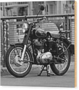 Royal Enfield Goes Berlin Wood Print