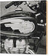 Royal Enfield Motorbike Wood Print