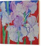 Royal Iris Wood Print