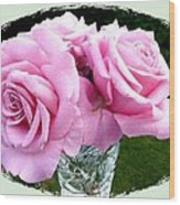 Royal Kate Roses Wood Print by Will Borden