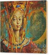 Royal Muse Wood Print