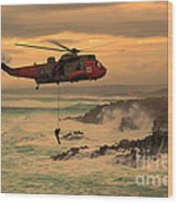 Royal Navy Rescue  Wood Print