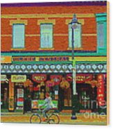 Royal Oaks British Pub Hillarys And Pc Perfect Glebe Central Paintings Of Ottawa Scenes C Spandau Wood Print