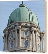 Royal Palace Dome In Budapest Wood Print