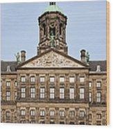 Royal Palace In Amsterdam Wood Print