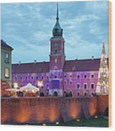 Royal Palace In The Old Town Of Warsaw Wood Print