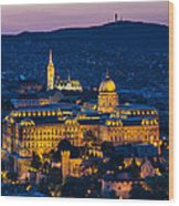 Royal Palace Of Buda In Budapest Wood Print