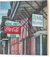 Royal Pharmacy Wood Print by Brenda Bryant