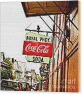 Royal Pharmacy Soda Sign Wood Print