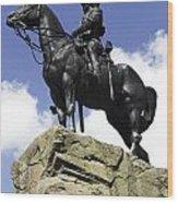 Royal Scots Greys Monument In Edinburgh Wood Print