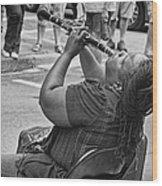 Royal Street Clarinet Player New Orleans Wood Print