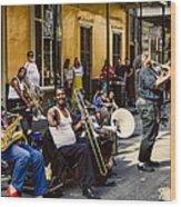 Royal Street Jazz Musicians Wood Print