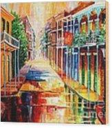 Royal Street Reflections Wood Print by Diane Millsap