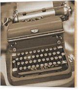 Royal Typewriter Wood Print