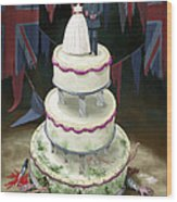 Royal Wedding 2011 Cake Wood Print