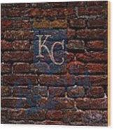 Royals Baseball Graffiti On Brick  Wood Print by Movie Poster Prints