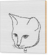 Royalty In A Word Is Cat Wood Print