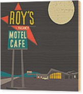 Roys Cafe Wood Print by Jazzberry Blue