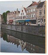 Rozenhoedkaai Bruges Wood Print