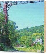Rr Bridge Wood Print
