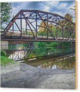 Rt 106 Bridge Wood Print