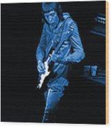 Rt #17 Crop 2 Enhanced In Blue Wood Print