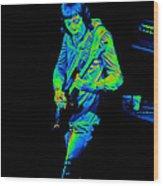 Rt #17 Crop 2 Enhanced In Cosmicolors Wood Print