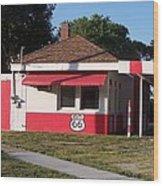 Rt 66 Dwight Il Food Stop Wood Print