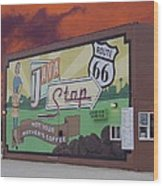 Rt 66 Dwight Il Java Stop Wood Print