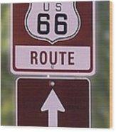 Rt 66 Signage Wood Print