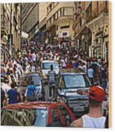 Rua 25 De Marco - Sao Paulo Wood Print