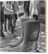 Rubber Boots Wood Print