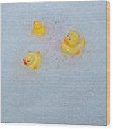 Rubber Ducks Wood Print