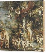 Rubens, Peter Paul 1577-1640. The Feast Wood Print