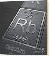 Rubidium Chemical Element Wood Print