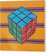 Rubiks Wood Print by Anthony Mezza