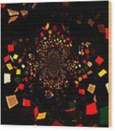 Rubik's Explosion Wood Print by Scott Allison