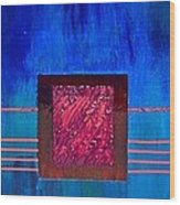 Rubis De Sang Wood Print