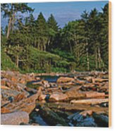 Ruby Bay North Pacific Ocean Wood Print