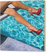 Ruby Heels Not In Kansas Palm Springs Wood Print