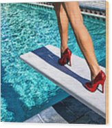 Ruby Heels Ready For Take-off Palm Springs Wood Print