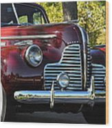 Ruby Red Buick Wood Print