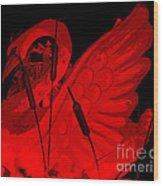 Ruby Red Swan Wood Print