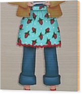 Ruby's Red Shoes Wood Print by Catherine Holman