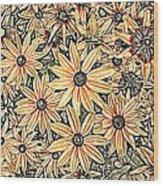 Rudbeckia - Rudbeckie Wood Print
