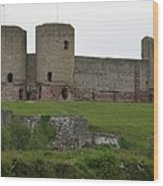 Ruddlan Castle 2 Wood Print