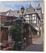 Rudesheim Wood Print