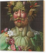 Rudolf II Of Habsburg As Vertumnus Wood Print