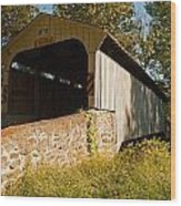 Rudolph Arthur Covered Bridge Wood Print