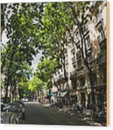Rue Caulaincourt Montmartre Wood Print